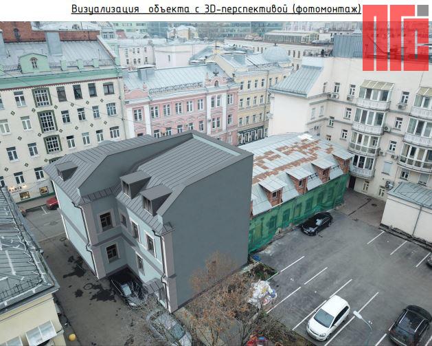 Архитектурно-градостроительное решение объекта, расположенного по адресу: г. Москва, пер. Большой Сухаревский, д. 3