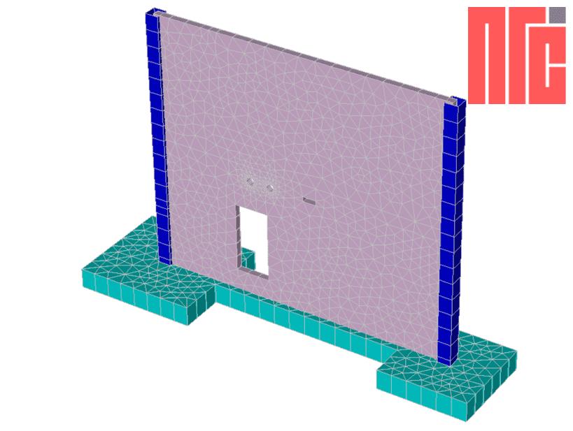 Обследование монолитной ж/б стены и разработка проекта усиления